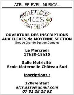 Eveil musical par l'Amicale Laïque Château-Sud