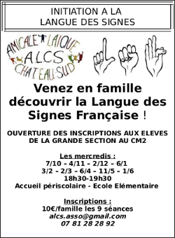 Initiation à la langue des signes par l'Amicale Laïque Château-Sud