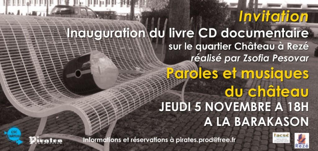 Invitation à l'inauguration du livre CD documentaire de Zsofia Pesovar