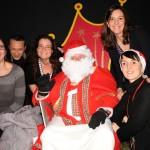 Une partie de l'équipe du CSC Château avec le Père Noël