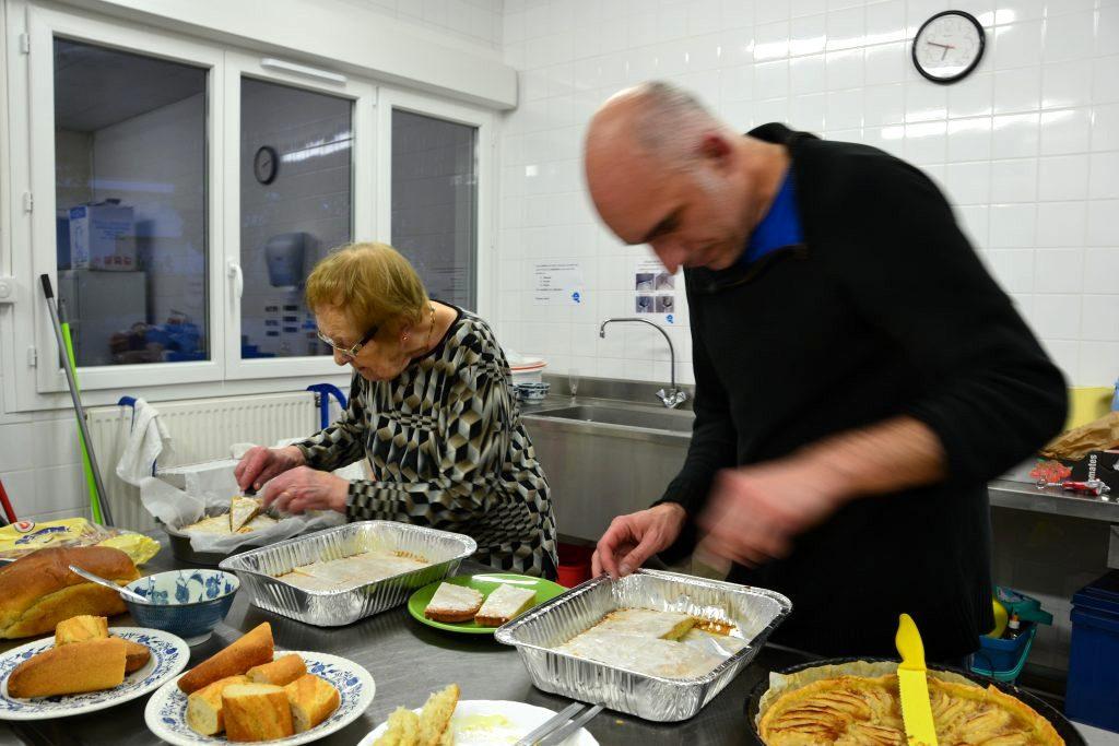 Repas d'habitants en avril 2016