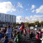 Moment festif sur l'espace public pendant les vacances d'automne 2017